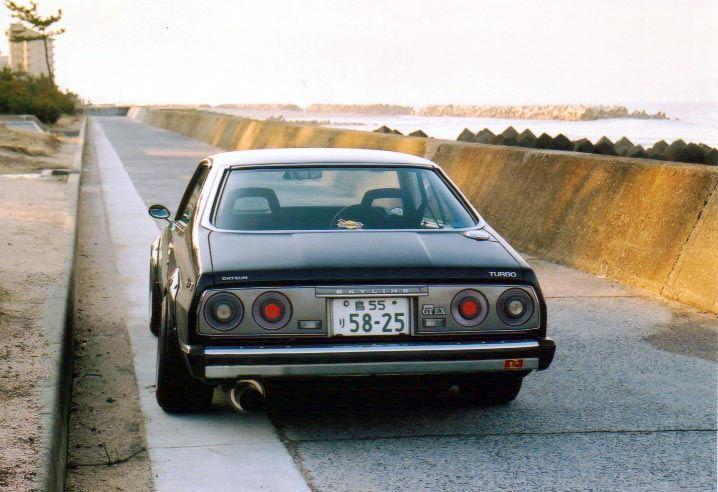Datsun Skyline C210, silnik z DR30, swap, JDM, japoński sportowy samochód, auto, stary, nostalgic, klasyczny, youngtimer, oldschool, classic, old