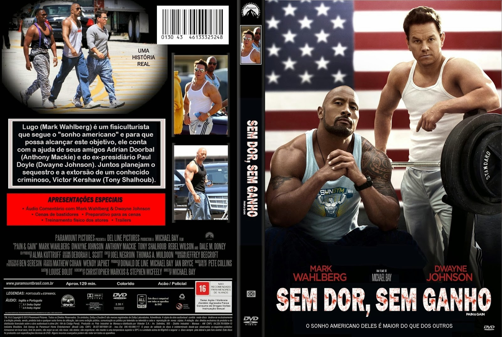Sem Dor, Sem Ganho DVD Capa