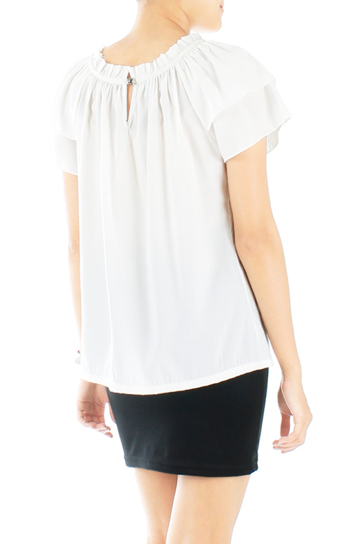 White Confection Double Sleeve Blouse