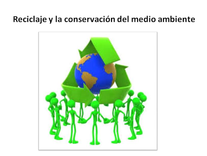 RECICLAJE y la conservación del medio ambiente