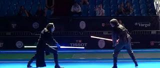 Mira este duelo con espadas láser realizado en el mundial de esgrima 2015