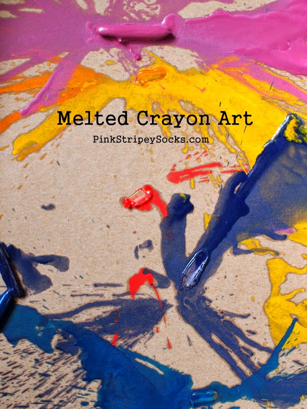 easy melted crayon art for kids