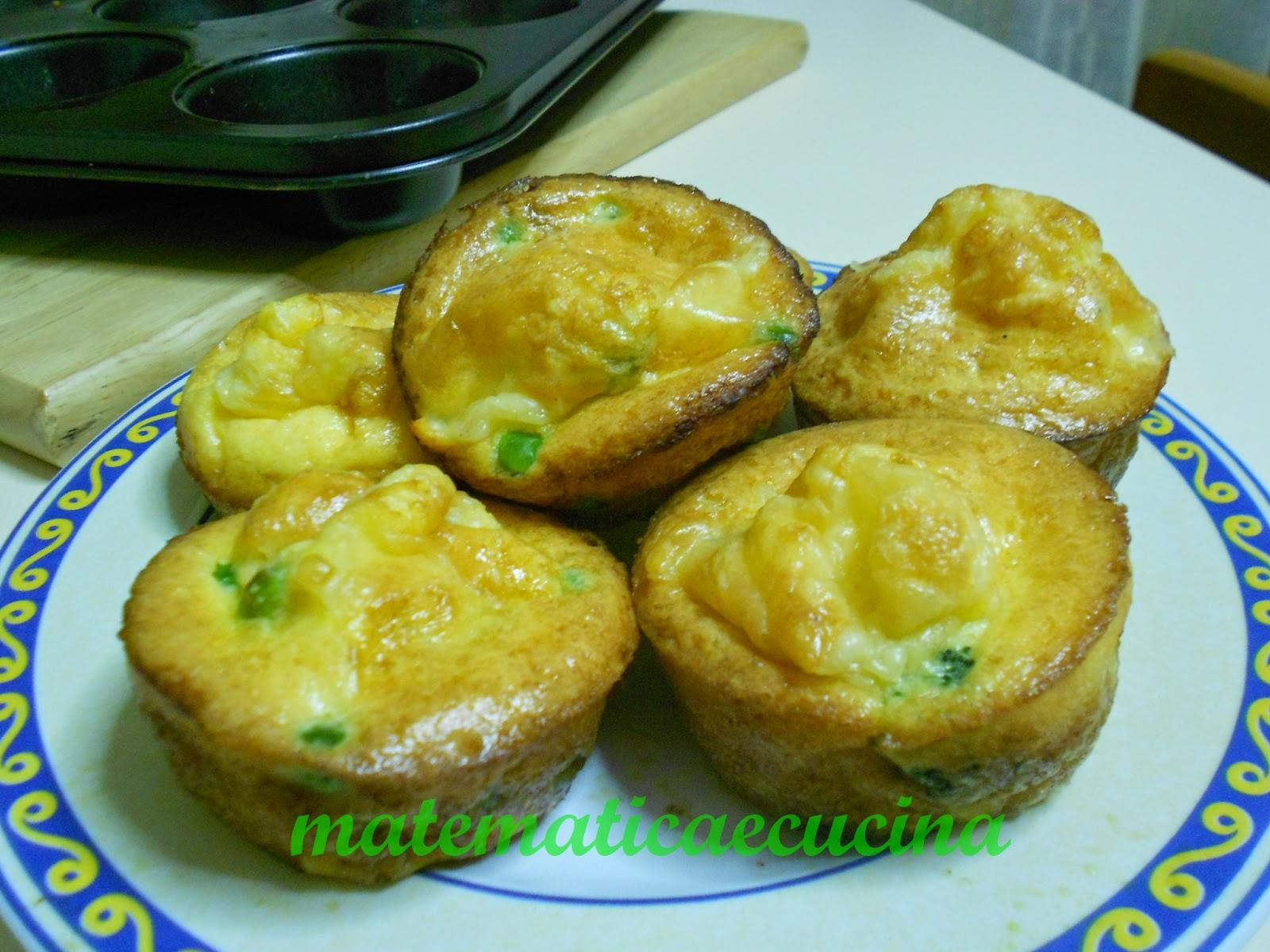 frittatine alle verdure cotte nello stampo dei muffins