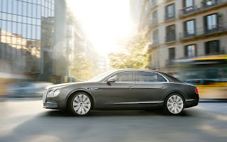 2014 Bentley Flying Spur side in motion