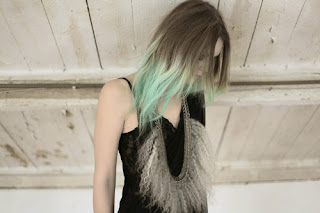 Ombre hair dip dye hair blonde blue