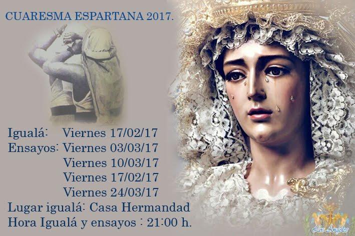 Cuaresma Espartana 2017.