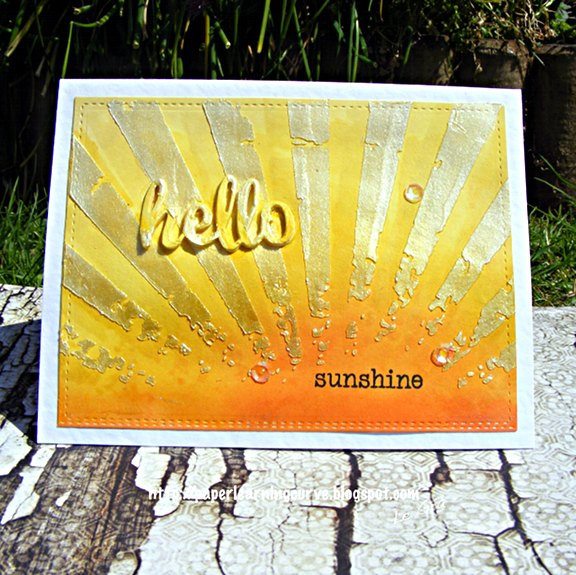 Grá O'Neill - Paper Learning Curve - Waltzingmouse Stamps Half Pint Heros, Hello die, Tim Holtz Rays stencil, Lawn Fawn Stitched Rectangles