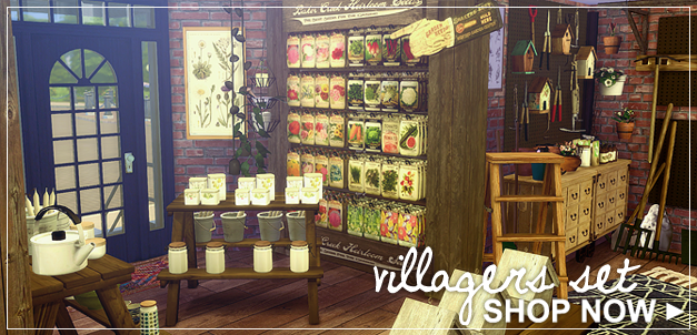 My Sims 4 Blog Villager 39 S Set By Modernvillager