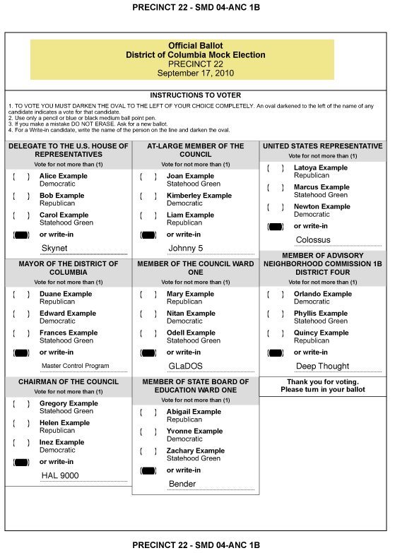 voting ballot template for word