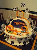 Zach's Hot Wheels cake