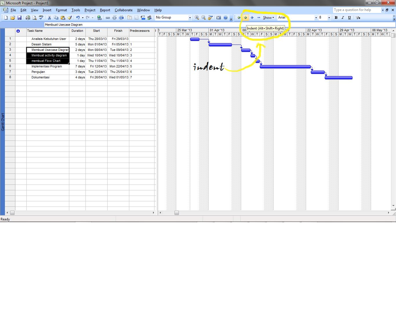 Pert chart gantt chart hrs zone 5 jika sudah maka akan tampilan gantt chart menjadi seperti ini ccuart Gallery