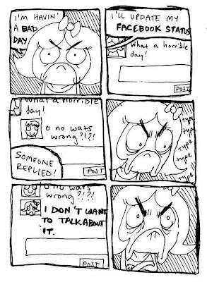 rage comic facebook status vague ignore