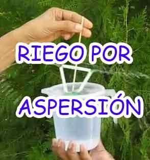 Experimentos caseros faciles riego por aspersion for Riego por goteo casero