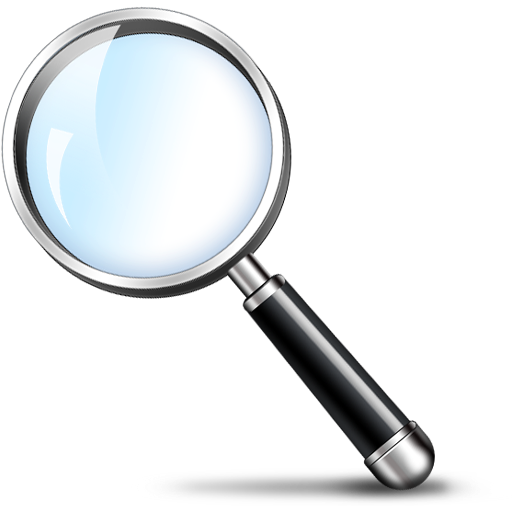 Magnifying Glass Search Icon PSD