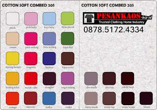Katalog Warna Kaos Cotton Combed 1