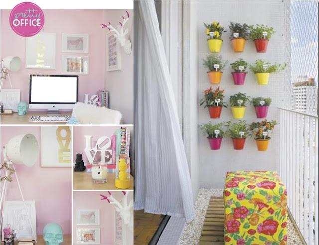 inspiração decoração home office e varanda pequena blog Mamãe de Salto ==> imagem retirada da internet