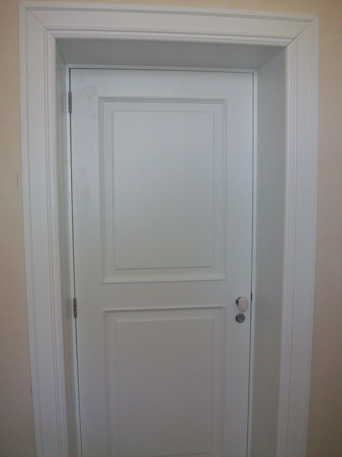New bedroom door