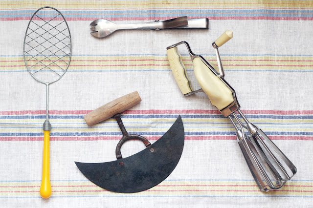 The Butcher And The Baker 5 Days Of Christmas Vintage Kitchen Tools