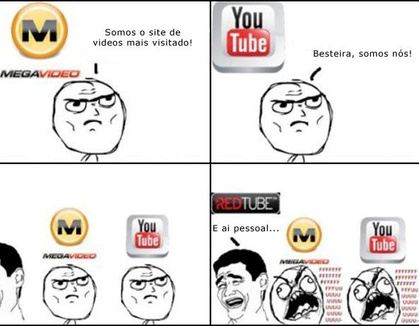 youtube megavideo redtube acessado trollface rage