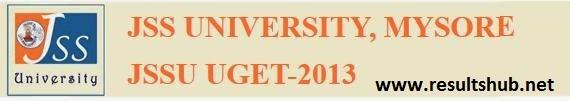 JSSU UGET-2013 Result  JSS UNIVERSITY, MYSORE