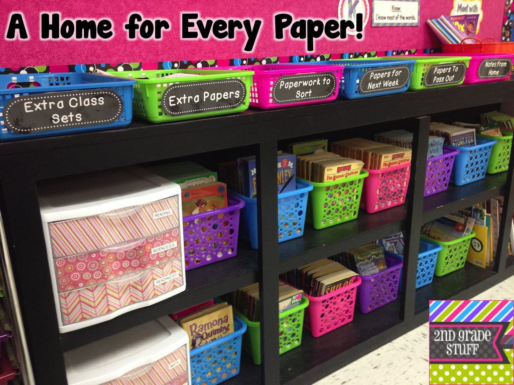 2nd Grade Stuff Avoid Stacks Of Papers Organize