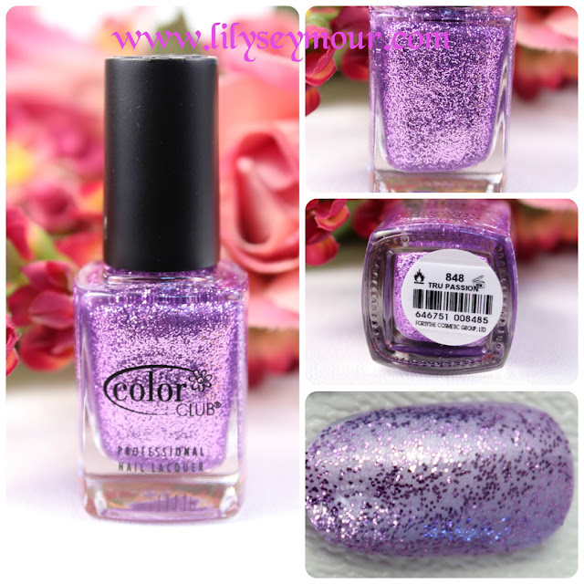 Color Club Tru Passion Glitter Nail Polish