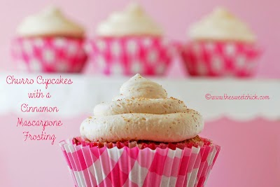 Churro Cupcakes - The Sweet Chick