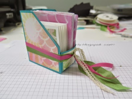 Mini Magazine holder zena kennedy independent stampin up demonstrator