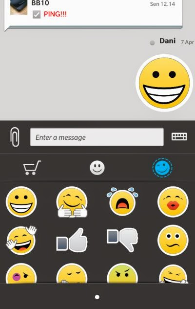 Use BBM sticker