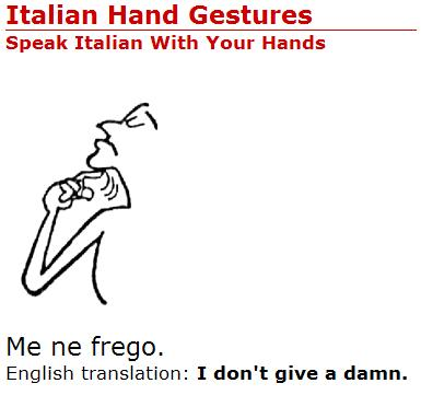 how do you say fuck in italian