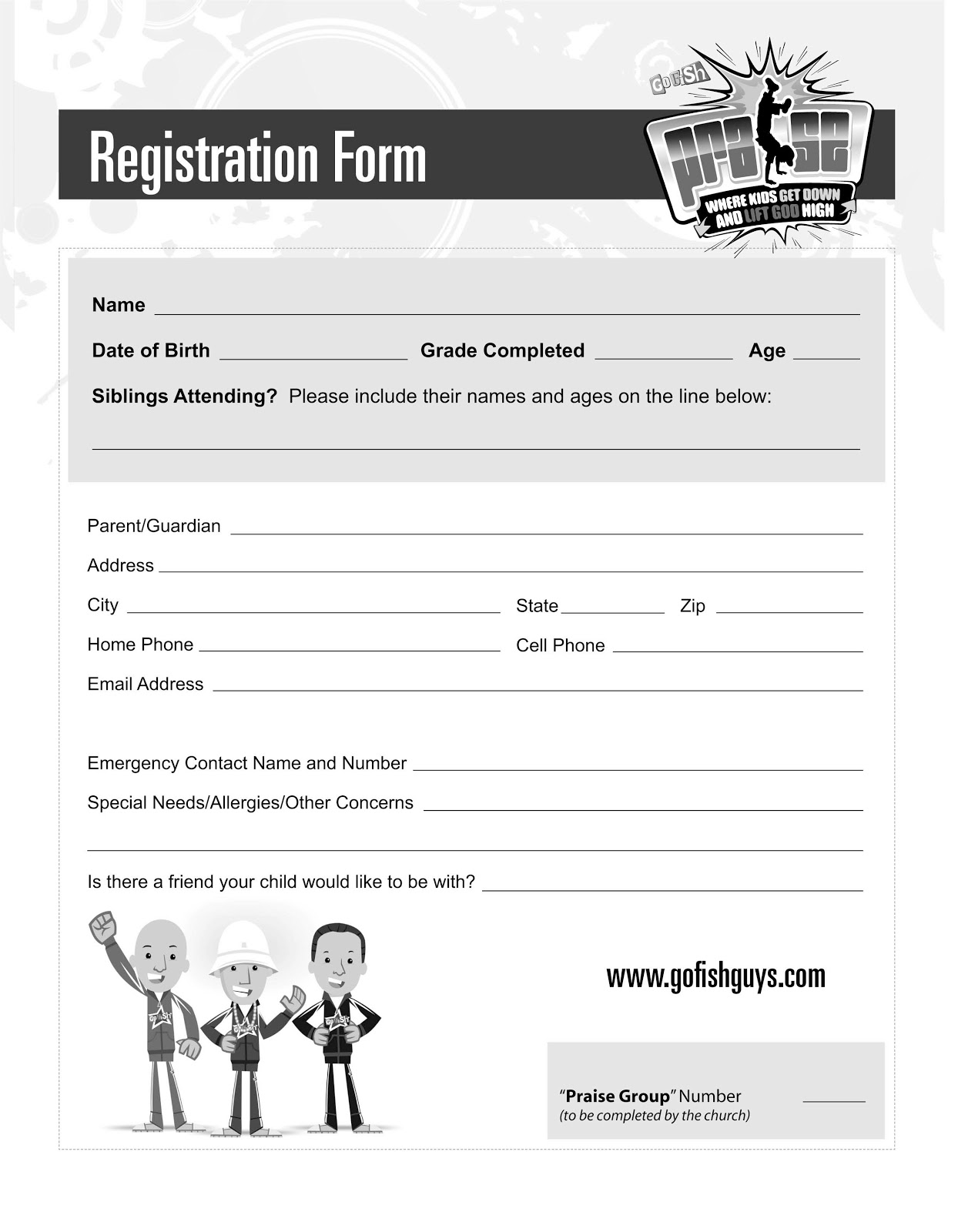 pin printable vbs registration form template on pinterest