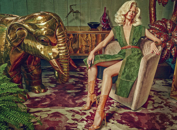 © Sandrine Dulermo and Michael Labica | How To Spend It (Financial Times) - Seventies-inspired suede and retro interiors