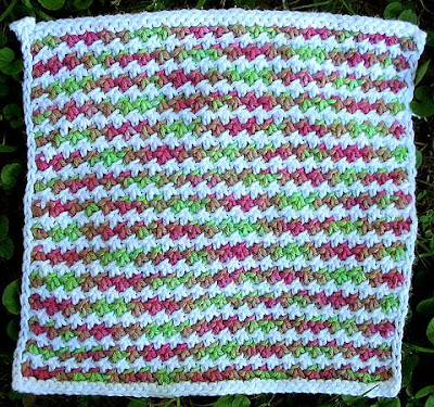 Knot Stitch Dishcloth Pattern