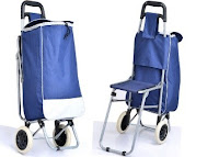 Buy Kawachi Trolley Bag With Folding Chair at Rs 749 Via Ask me bazaar : Buytoearn