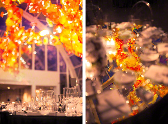 chihuly garden and glass wedding seattle reception event photography