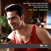 Varun Dhawan and Parineeti Chopra's Print Ads for WeChat India