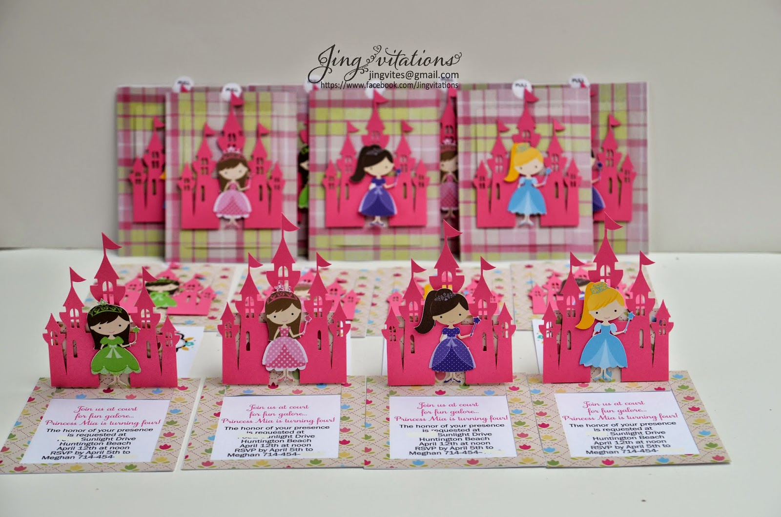 handmade pop up invitations