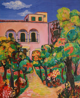 Amara Dacer art, Garden in Mallorca