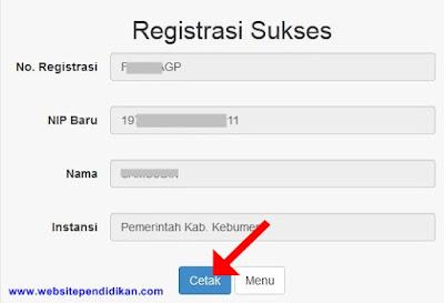 Rgistrasi e-PUPNS sukses