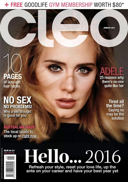 Singer, @ Adele Adkins - Cleo Australia, January 2016