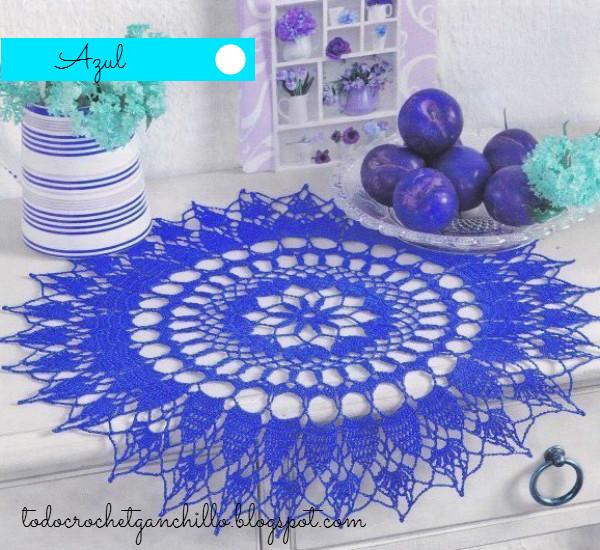 Esquema crochet de carpeta linda redonda