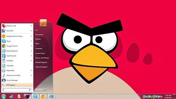 angry bird theme rar. untuk windows 7 dan 8