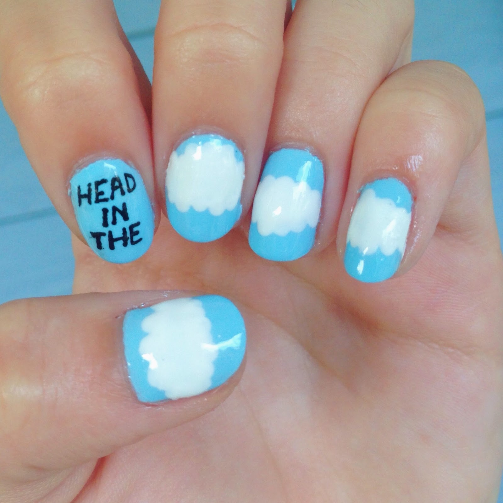 Nail Art By Katy Head In The Clouds Nail Art