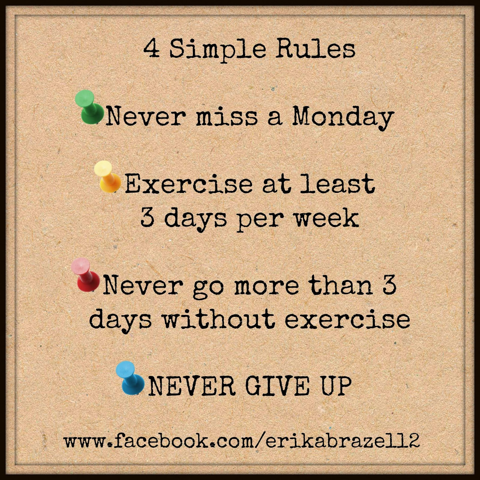 Simple Rules For A Healthy Life Share And Spread The: Positively Fit With Erika: December 2014