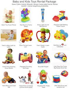 Paket Hemat Sewa Mainan Bayi/Anak