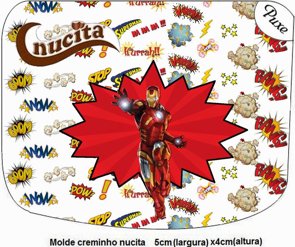 Etiquetas Nucita de Iron Man para Imprimir Gratis.