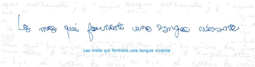 Les mots qui forment une langue vivante