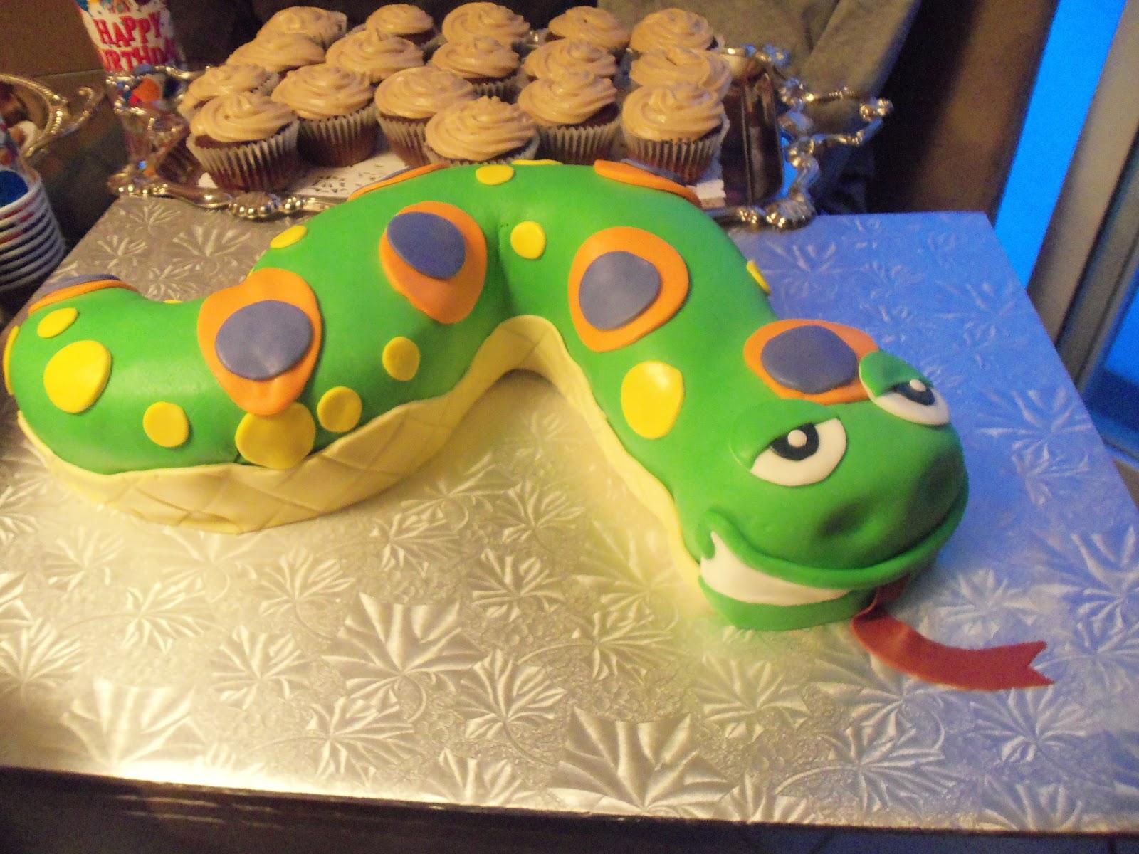 Sugarbakers Cake Design Snake Party Birthday Cake