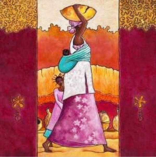 Pintura moderna y fotograf a art stica negras africanas - Cuadros para pintar en casa ...