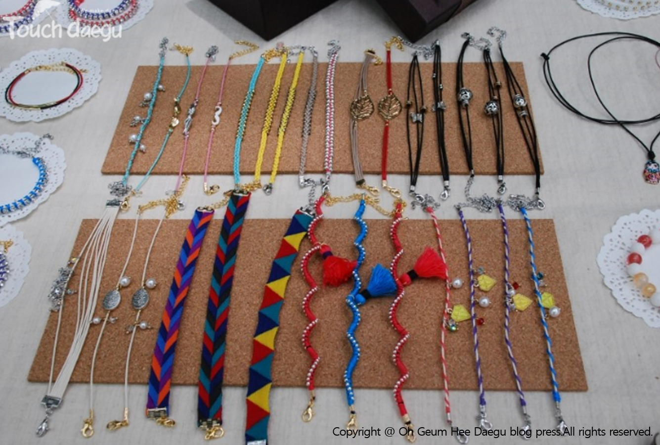 Pretty accessories are on sale at free market, Daegu